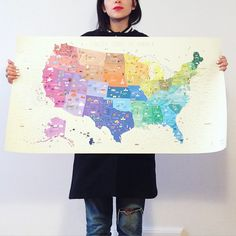 Illustrated Map of The United States of America by NeatoNectarine