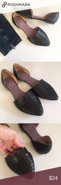 Black strappy D'Orsay flats - Never worn! Simba flats by Report in black. Tried on a few times and I put cushioned insoles in them but they never got worn. Man made materials. Excellent condition! Report Shoes Flats & Loafers