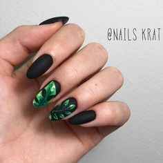 Matte Black Like Perfect Base For Tropical Nail Art ★ Which summer nail colors do you prefer, bright or more neutral? Explore trendy nail designs for the summertime Tropical Nail Designs, Tropical Nail Art, Diy Nail Designs, Bright Summer Nails, Cute Summer Nails, Cute Nails, Nail Summer, Bright Nails, Summer Art