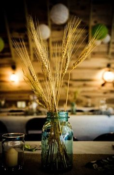 Could add some wheat to flower arrangements to complement brewery venue