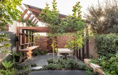 A Cascading, Compact Garden That Envelopes Its Newtown Home Australian Architecture, Australian Homes, Contemporary Architecture, Victorian Terrace, Victorian Homes, Most Beautiful Gardens, Beautiful Homes, Roof Garden Plants, Roof Gardens