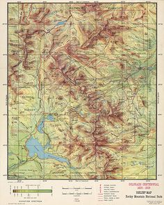 13 Best Colorado Vintage Map images