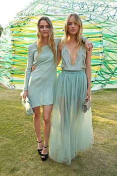 See the best dressed celebrities at this weekend's Annual Serpentine Gallery summer party:  Immy and Suki Waterhouse