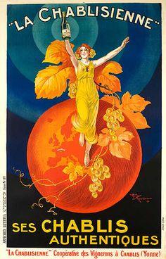 DP Vintage Posters - La Chablisienne Original French Chablis Wine Poster