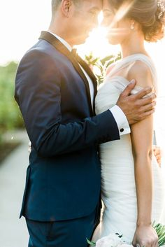 We're head over heels for this gorgeous shot of the bride and groom!
