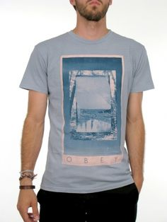 Window In Time T-Shirt for men by Obey  100% Cotton  Model is wearing a size medium