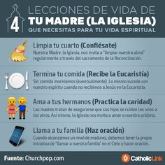 Biblioteca de Catholic-Link - Infografía: 4 lecciones de vida de tu Madre (la...
