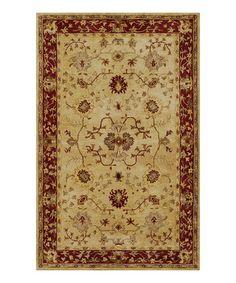 This Sand & Rust Tabriz Wool Rug is perfect! #zulilyfinds