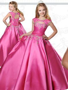 Glitz Pageant Dresses, Pageant Dresses For Teens, Girls Pageant Dresses, Gowns For Girls, Frocks For Girls, Tutus For Girls, Little Girl Dresses, Dresses For Kids, Princess Dress Patterns