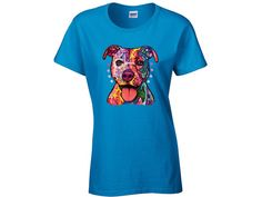 Pitbull T-shirt Pitbull Shirt Dog Shirt I by FashionHolicClothing