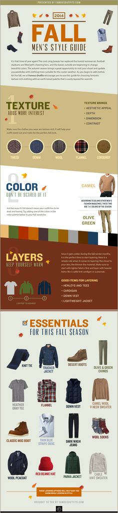 2014 Fall Men's Style Guide #Infographic via @famousoutfits