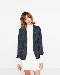 1549f02ab39 Image 2 of BLAZER WITH ELBOW PATCHES from Zara Zara Blazer