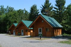 The cabins located at scenic Remington Park.  Each cabin offers sleeping accommodations for 4 adults, a kitchenette, a comfortable seating or lounge area in a quiet wooded area. The cottages are located within walking distance of wilderness trails, playgrounds, a sandy beach and swimming area. Handicap accessible.