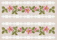 Gallery.ru / Фото #37 - Cross Stitch - pautinka-Lena Cross Stitch Boarders, Cross Stitch Rose, Cross Stitch Flowers, Cross Stitch Patterns, Fabric Patterns, Hand Embroidery, Needlework, Pattern Design, Diy Crafts