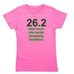streamathon girls dark t-shirt > $17.99US > babybitbyte (cafepress.com/babybitbyte) #babybitbyte #cafepress #nerd #geek #stream #streaming #marathon #tv #tvseries #hour #hours #funny #runner #running #girl #girls #tshirt #tee #girlstee #girlstshirt