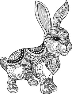 Cute Bunny cdr, Ornate Cute Bunny, Mandala, Happy Easter Cdr by MonomShop on Etsy Free Vector Files, Vector Free Download, Vector Design, Vector Art, Cute Bunny, Laser Engraving, Happy Easter, Free Design, Craft Projects