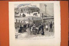 Antique Print of Bradford Coffee Tavern Forster Building Print 1879