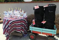 Cheap and Easy DIY Softball Party Decorations for an end of the year pool party along with other budget friendly party ideas. Softball Party Decorations, Baby Strollers, Easy Diy, Inspired, Children, Inspiration, Biblical Inspiration, Boys, Bricolage Facile