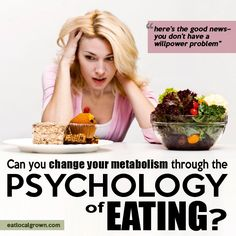 Recent advances in the mind-body sciences have been proving that you can powerfully change your health and your nutritional status without changing anything you eat, but by changing you the eater.