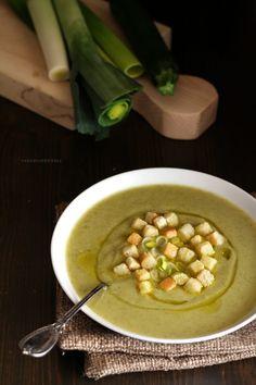 vellutata zucchine e porri
