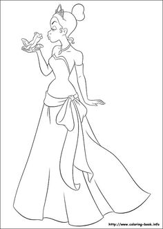 free online princess and the frog coloring pages