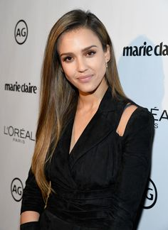 Jessica Alba Long Straight Cut - Jessica Alba gave us hair envy when she wore this perfectly straight style during Marie Claire's Image Maker Awards.