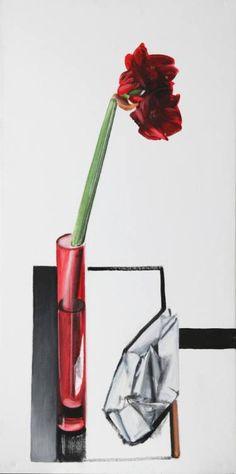 "Saatchi Art Artist Magdalena Kazimierska; Painting, ""Amarylis, little boat"" #art"