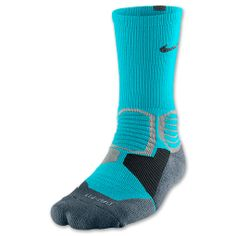 Men's Nike Hyper Elite Basketball Socks | FinishLine.com | Gamma Blue/Armory Slate