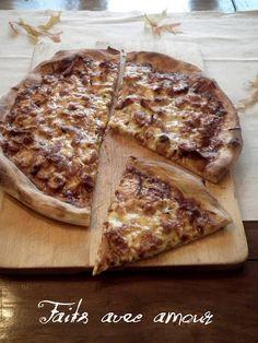 Faits avec amour /Les Aventures culinaires de Kiki: Pizza au poulet BBQ (sauce BBQ whisky, érable et chipotle ou la meilleure sauce BBQ que j'ai faite)