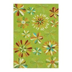 Handmade rug with a floral motif.   Product: RugConstruction Material: 100% PolypropyleneColor: F...