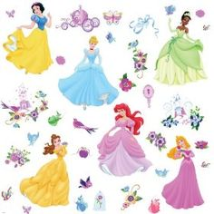 RoomMates RMK1470SCS Disney Princess Peel & Stick Wall Decals with Gems.  List Price: $14.99  Sale Price: $9.97  More Detail: http://www.giftsidea.us/item.php?id=b003p9vz0w