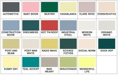 1930s paint colours | started to look for colors that were close to