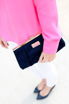 Navy Lilly Pulitzer Clutch