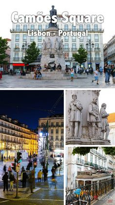 In the heart of Lisbon's Chiado neighbourhood, you find this oval square built on the spot of what was once a beautiful palace destroyed by the 1755 Lisbon Earthquake.