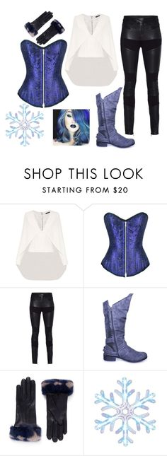 """""""Ghetto Cosplay= Killer Frost"""" by hayliemcullough ❤ liked on Polyvore featuring Balmain, TIGHA, Alexander McQueen and Philips"""