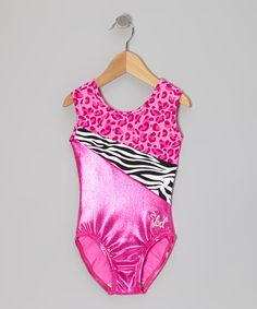 Take a look at this Hot Pink Wild Holly Leotard - Toddler & Girls on zulily today!