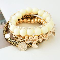 #Fashion_leopard_print_bangle_multi_stack_bracelets. Such cool glam!  [note: if someone can pin multiple pins that don't fit the board, I shall pin this extra pin. Not for the game, but to comment on the situation] Anyone else care to comment?