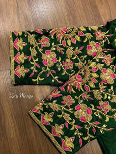 Black Blouse Designs, Brocade Blouse Designs, Pattu Saree Blouse Designs, Best Blouse Designs, Bridal Blouse Designs, Blouse Neck Designs, Sleeve Designs, Embroidery Flowers Pattern, Embroidery Works