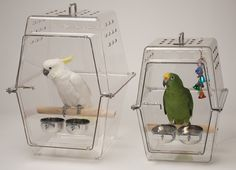 Wingabago bird carriers come in two sizes and have several options to customize to your travel or carrier needs. Can be use as a hospital or sleep cage, too.