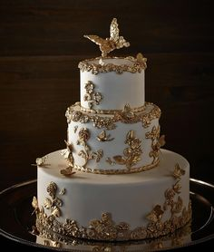 Stunning Wedding Cakes with Exquisite Details from Ms B's Cakery.