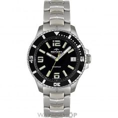 Rotary Stainless Steel Two Toned Black Dial Date Gents Watch - Rotary Watches - Collections - by Samuels Jewelers Gents Watches, Sport Watches, Rolex Watches, Watches For Men, Stainless Steel Bracelet, Stainless Steel Case, Samuels Jewelers, Rotary Watches, Casio Watch