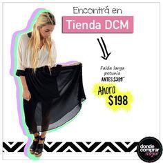 ¡Lucí esta falda divina y sentite una diosa! ☆☆☆  Conseguila a un precio único en www.tiendadcm.com/venta/Falda+larga+Petunia/77687. — con Belen Garrido.