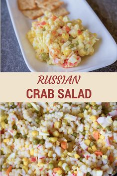 Seafood Dishes, Seafood Recipes, Appetizer Recipes, Salad Recipes, Seafood Salad, Appetizers, Dutch Recipes, Russian Recipes, Russian Foods