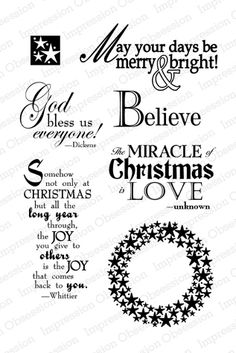 Impression Obsession Rubber Stamps The Miracle of Christmas
