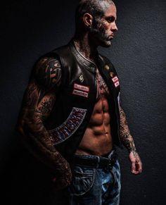 The Owner of Hells Angels Tattoo Shop StoryTattoo Themes Idea Hells Angels, Biker Clubs, Motorcycle Clubs, Hot Rods, Bike Rally, Biker Tattoos, Biker Boys, Book Boyfriends, Models