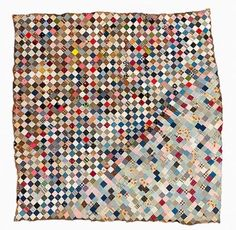 1950s pieced quilt which is so unusual with the change of angle. Very forward for its time.