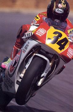 Kevin Schwantz  with army helmet