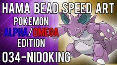 Hama Bead Speed Art   Pokemon   Alpha/Omega   Timelapse   034 - Nidoking