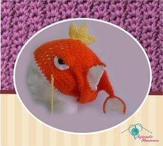 Modelo Nº 78: Pez Pokemon, hermoso gorro en gorma de pez, #Pokemon #Geek #gorro #juvenil #tejido #crochet