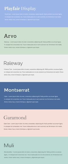 Beautiful Google Web Font Combinations - Fianna O'Donoghue